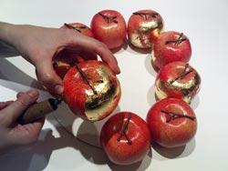 Как сделать искусственное яблоко своими руками 9