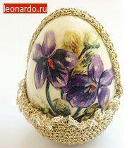 Бархатные пасхальные яйца своими руками