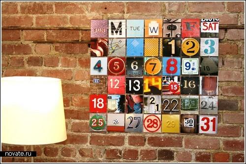 Как сделать календарь своими руками на стену