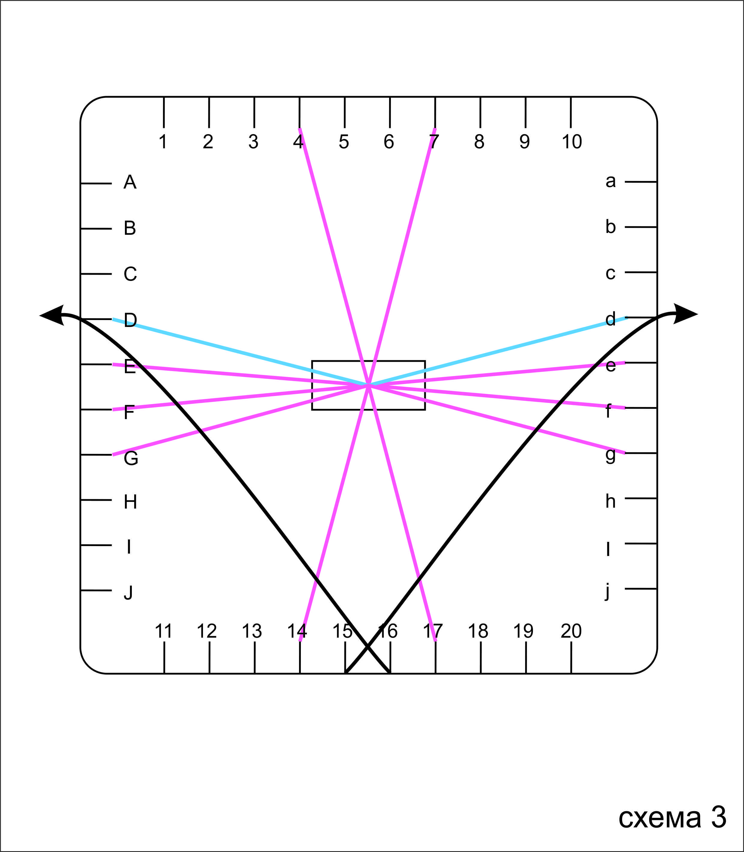 Кумихимо квадратный станок схема