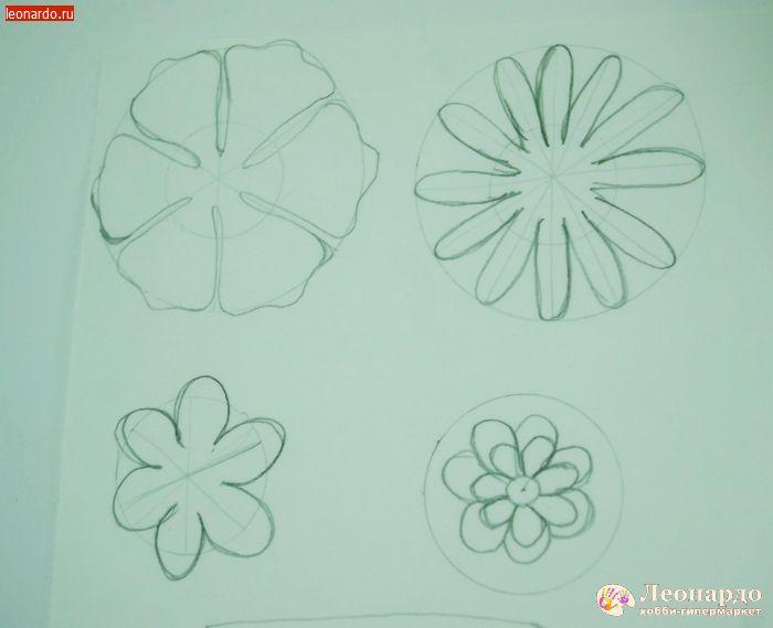 Трафареты для цветов из фоамирана