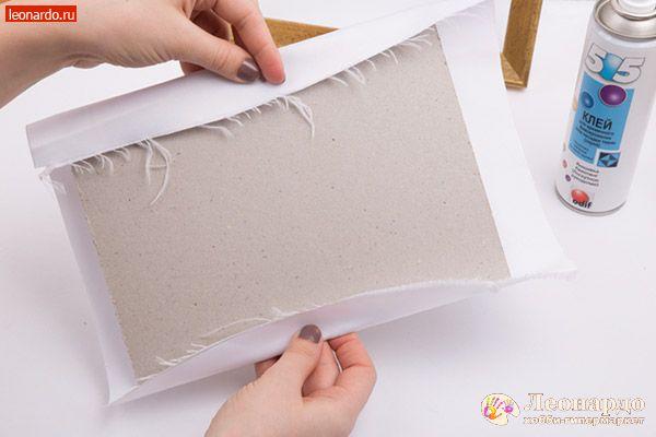 Как приклеить вышивку на картон