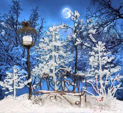 Зимняя композиция из бисера фото