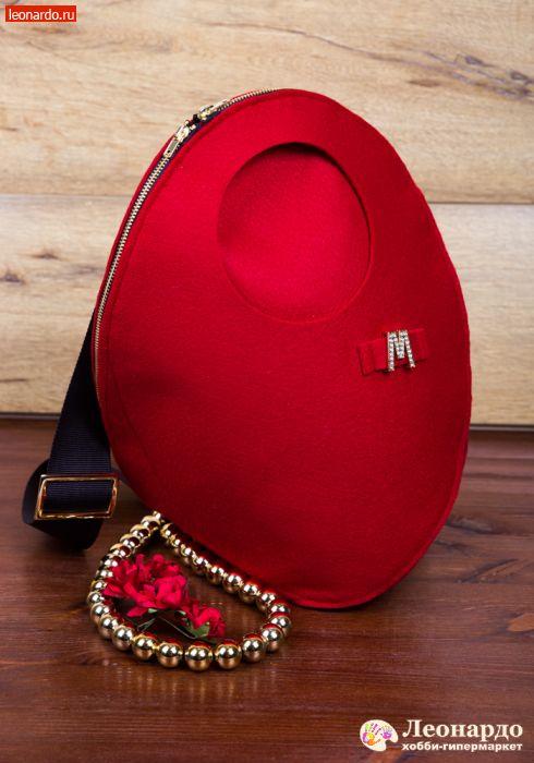 5cfcbda6d299 Сумка-рюкзак из фетра «Алый всплеск» -